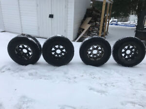 17x9 alloy rims 8x170 bolt pattern with 37 inch tires