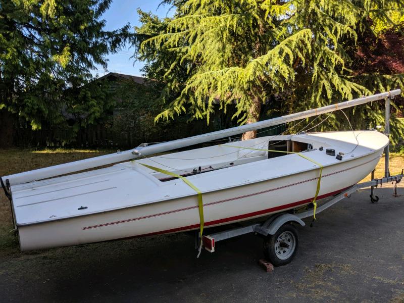 Sailboat Trailer For Sale >> Flying Scot Sailboat With Trailer For Sale Sailboats Nanaimo Kijiji