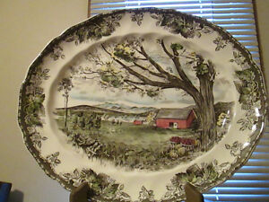 The Friendly Village, large oval platter