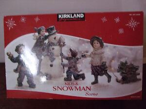 SNOWMAN & KIDS SCENE FIGURES London Ontario image 1
