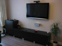 Tv wall mount INSTALLATION support tele murale 90$