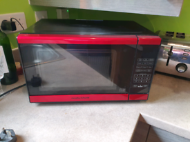 Red morphy Richards microwave