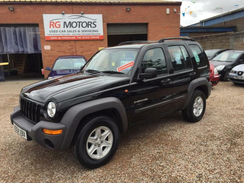 2004 04 jeep cherokee sport 2 8 crd auto black 4 wheel drive deposit taken in lincoln. Black Bedroom Furniture Sets. Home Design Ideas