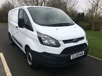 2015 64 FORD TRANSIT CUSTOM 2.2TDCi 270 100BHP L1 H2 WHITE 1 OWNER FORM NEW