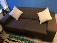 Brown sofa bed, as new condition