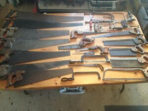 Antique over 100 year old & vintage hand saws