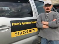 Phady's Appliance Repair and Installation
