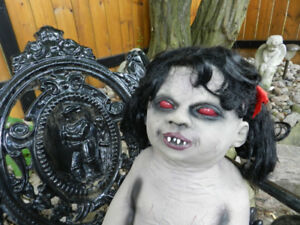 Halloween TheNIBBLER ZombieBaby She Is Ugly+Hungry+All Zipped Up