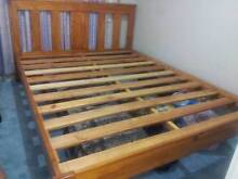 Solid Pine Timber Queen Bed Frame Minto Campbelltown Area Preview