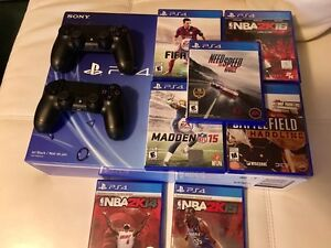 PS4, 2 controllers, 7 games