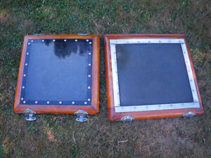 Teak hatch covers for a sailboat