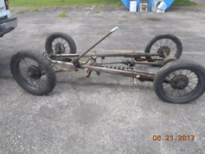 very old old car frame