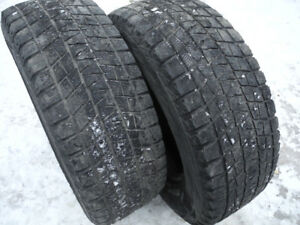 P285/70R17 pair of Blizzak Winter tires with still decent tread!
