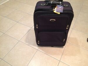 suitcase has wheels and lock good clean condition