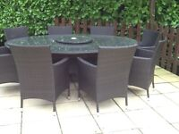 Rattan patio and chairs