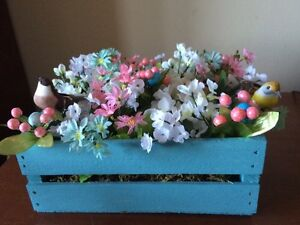 Pretty Easter/Spring Centrepiece Decor Home Crafted