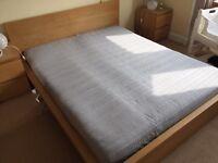 IKEA Malm Kingsize bed and mattress