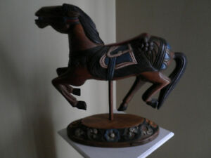 Hand Carved/Painted-Pier 1-all wood Carousel Horse