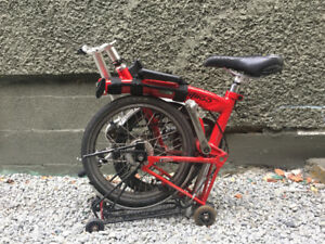 British design folding bike