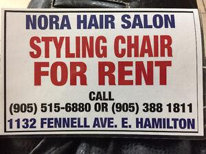 Hair Stylist Chair For Rent - Hamilton East Mtn