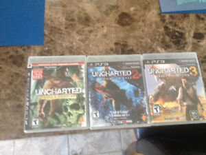 Uncharted 1,2 and 3