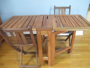 IKEA patio table and chairs