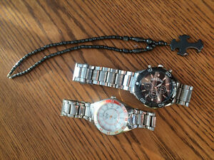 Watches nd necklace