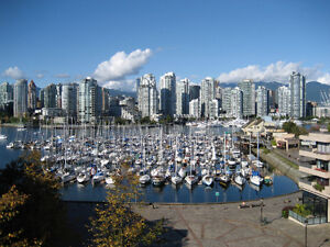 False Creek 1100 sq ft waterfront condo overlooking city