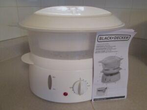 Black+Decker 4 qt. steamer/rice cooker, brand new