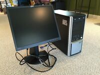 Desktop PC with 19'' LCD monitor
