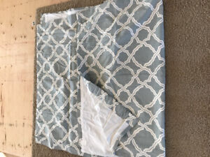 Pattern curtain set of 2 panels 50x96inch/pottery barn like new.