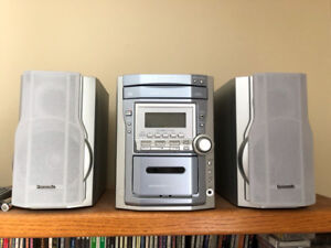 Stereo system, CD and Cassette