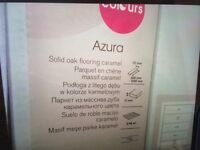 (WANTED) - B&Q Colours AZURA Caramel Solid Oak flooring.