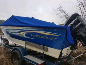 Smokercraft with trailer