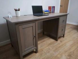 IKEA Hemnes desk, greyish brown , wood, large, ideal for computer,
