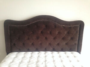 EUC Upholstered Headboard-Chocolate Brown