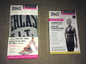Everlast Yoga Mat towel and Slimmer belt