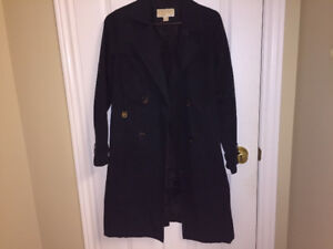 Black MK Michael Kors fall winter trench coat Small-Medium