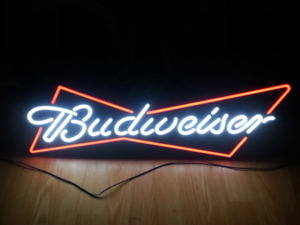 "Beer bar sign 30""x10"" with led light"