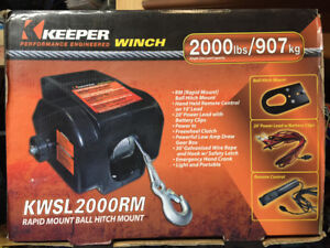 Keeper KWSL2000RM Elec Winch 2000 lb. With Ball Mount