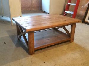 Rustic wood coffee table - never used! Kitchener / Waterloo Kitchener Area image 2