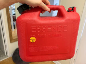 Plastic Red Jerry Gas Can