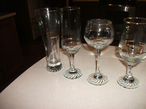 lot of 40 goldplated olympic, wine, beer, etc glasses.