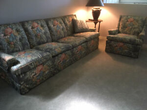 Sofa and matching arm chair
