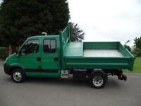 2008 08 IVECO DAILY 35C12 LWB 3.5T 3-WAY TRANSIT DROPSIDE TIPPER # 42 000 MILES!