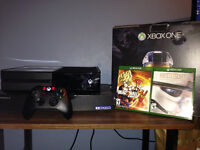 Xbox One 500GB Console, Controller, Stereo Headset and 2 Games