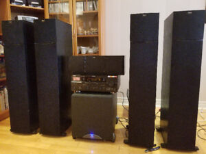 Klipsch Audio System and Yamaha HTR-6180 7.2 AV Receiver