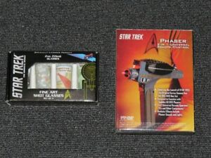 Star Trek Phaser Remote and Set of 4 Fine Art Shot Glasses