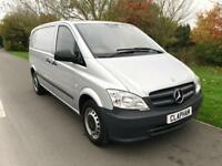 2013 63 MERCEDES VITO SILVER 2.1CDI 113 COMPACT 113CDI 1 OWNER ANY UK DELIVERY