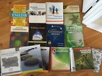 BOOKS TO SELL. Accounting, English.